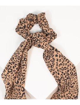 Leopard Print Scarf Hair Tie by Unique Vintage