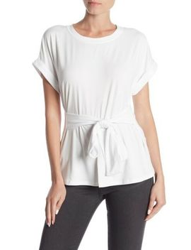 abound-tie-front-white-tee-size-s-9922 by ebay-seller