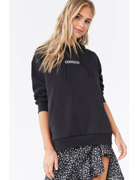 goddess-graphic-hoodie by forever-21