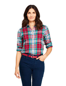 Women's Flannel Shirt by Lands' End