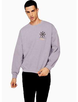 Lilac Bowery Oversized Sweatshirt by Topman