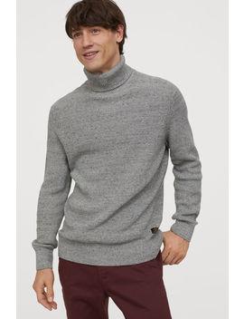 suéter-cuello-alto-tejido by h&m