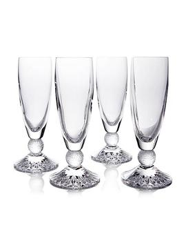 Waterford Riverside Drive Set Of 4 Champagne Flutes by Waterford