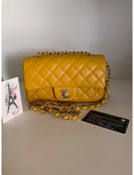 chanel-yellow-mini-flap-bag by chanel