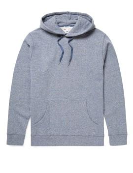 mens-cotton-loopback-mouline-overhead-hoody-in-blue by sunspel