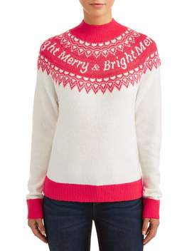 holiday-time-womens-fair-isle-christmas-sweater by holiday-time