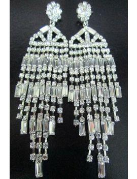 stunning-blinding-ice-crystal-rhinestone-chandelier-earrings by ebay-seller