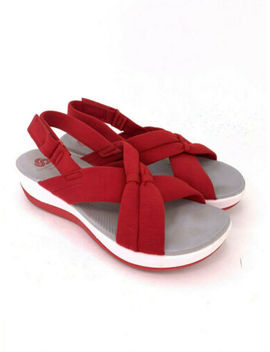 clarks-cloudsteppers-arla-primrose-red-sandals-woman-size-85m by clarks