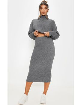 grey-ribbed-knitted-midi-skirt by prettylittlething
