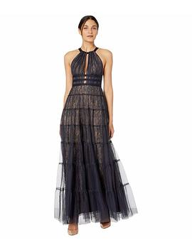 halter-lace-with-tulle-overlay-gown by bcbgmaxazria