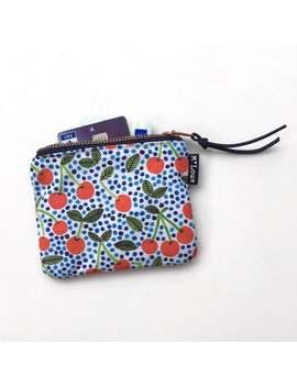 smal-retro-zipper-pouch-cherry-coin-pouch-little-wallet-make-up-bag-zipper-mini-purse-tiny-wallet-travel-bag-red-white-blue-boho-bohemian by etsy