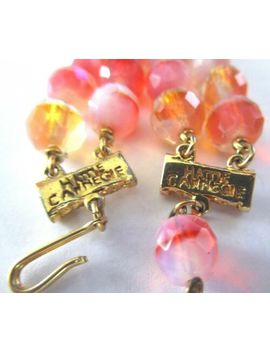 hattie-carnegie-exquisite-pink-&-orange-givre-crystal-vintage-necklace by ebay-seller