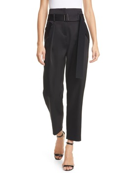 sicily-pleated-satin-trousers by judith-&-charles