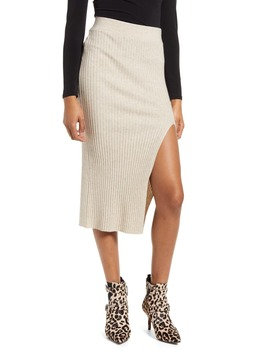 ribbed-side-slit-knit-skirt by leith