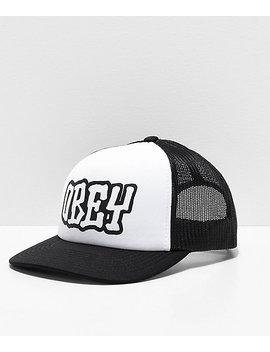 obey-loot-black-&-white-trucker-hat by obey