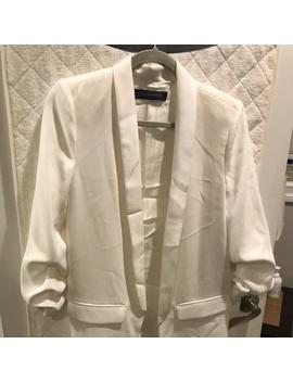 white-zara-oversized-blazer-medium by zara