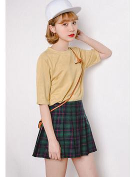 Harajuku Tartan Skirt ( Red / Green ) by Foreveronline Foreveronline