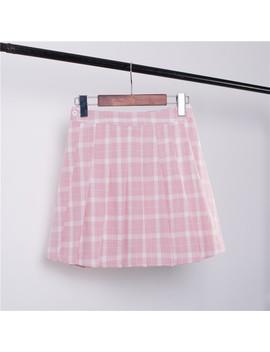 Grid Tennis Skirt , S L by Ohlala Harajukuohlala Harajuku
