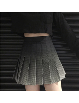 Gradient Pleated Skirt,S L by Ohlala Harajukuohlala Harajuku
