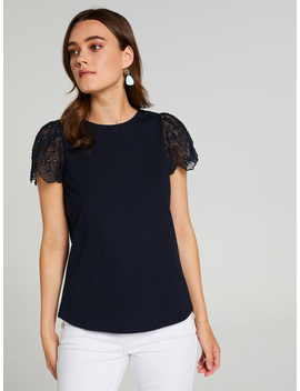 rach-lace-flutter-sleeve-tee by portmans