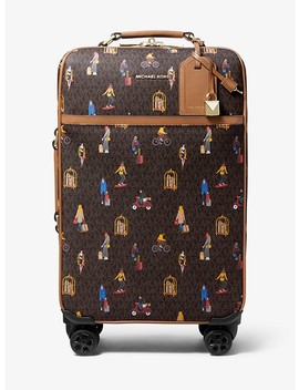 Bedford Travel Extra Large Jet Set Girls Print Suitcase by Michael Michael Kors