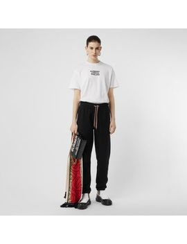 Embroidered Logo Cotton Trackpants by Burberry