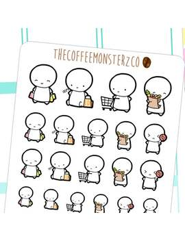 shopping-emotis---emoti-planner-stickers-e006 by etsy