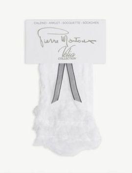 ferran-lace-frill-ankle-socks by pierre-mantoux