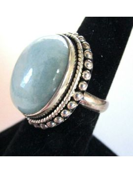 dp-doug-palus-sterling-silver-huge-sky-blue-aquamarine-genuine-stone-ring-size-7 by ebay-seller