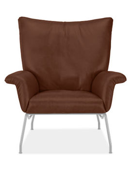 Paris Leather Chair & Ottoman by Room And Board