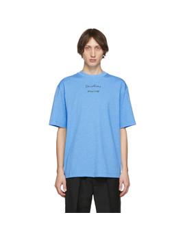 blue-video-print-erian-t-shirt by acne-studios