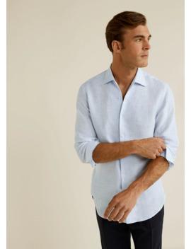regular-fit-flowy-linen-shirt by mango