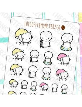 rainy-day-emotis---hand-drawn-emoti-stickers-for-your-planner!-e215 by etsy