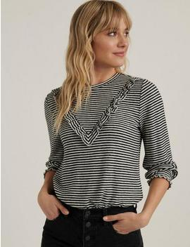 Cloud Jersey Ruffled Top by Lucky Brand
