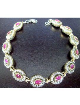 sterling-silver-genuine-ruby-&-sparkling-ice-cz-bracelet by ebay-seller