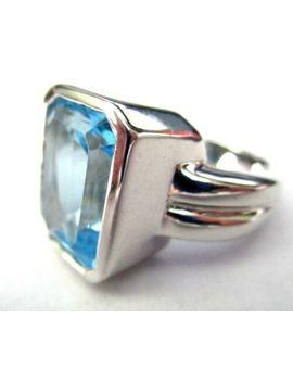 sterling-silver-massive-genuine-blue-topaz-ring-size-65 by ebay-seller