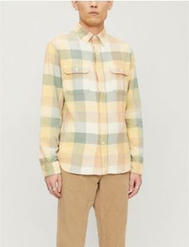 matlock-checked-brushed-cotton-twill-shirt by rrl