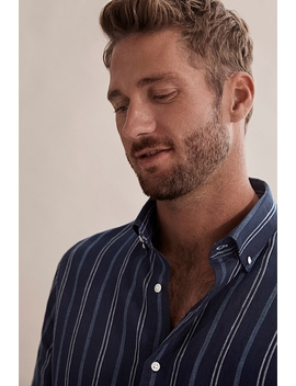 regular-indigo-stripe-shirt by country-road