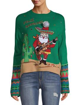holiday-time-womens-feliz-navidad-ugly-christmas-sweater by holiday-time