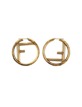 f-logo-earrings by fendi
