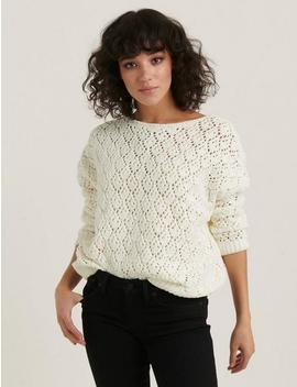 Pointelle Chenille Pullover by Lucky Brand