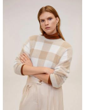 jersey-textura-cuadros by mango