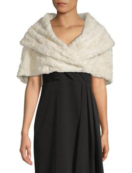 shawl-collar-faux-fur-cape by eliza-j
