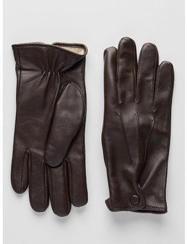 Dark Brown Leather Gloves | Alagna by John Henric