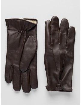 Dark Brown Leather Gloves   Alagna by John Henric