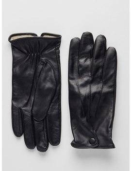 Black Leather Gloves | St.Anton by John Henric