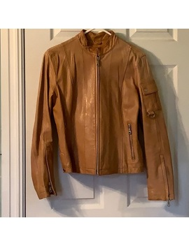 camel-colored-leather-motercycle-jacket by wilsons-leather