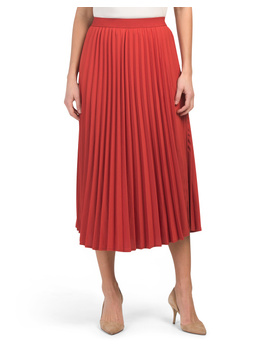 pleated-midi-skirt by solitaire