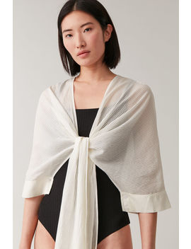 cropped-shirt-shawl-hybrid by cos