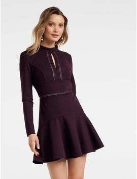Viviana Lace Trim Ponte Dress by Ever New